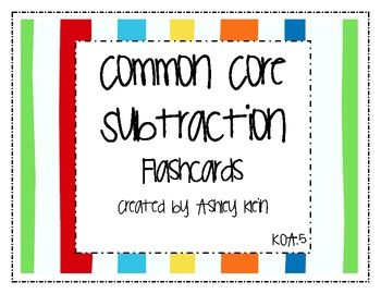 These flashcards are great to use to help your students fluently subtract within 5.