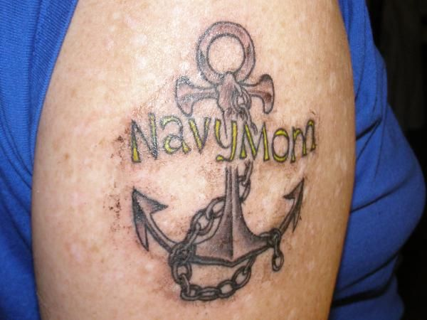 navy mom tattoo navy m