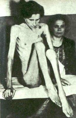 Survivor of Auschwitz. Soviet troops liberated Auschwitz in January 1945