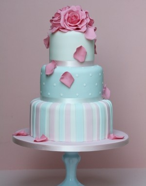 Blue and pink cake  Girls birthday  Pinterest