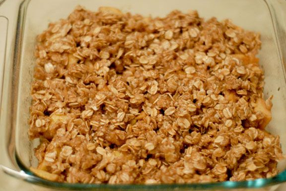 simple apple crisp for long cold nights | Food | Pinterest