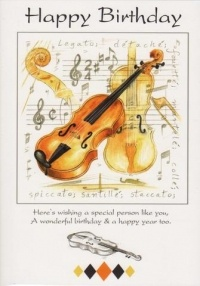 Happy Birthday Card: Violin. £1.75: www.pinterest.com/pin/1688918580917601