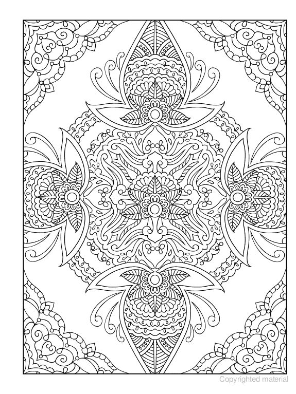 Free Coloring Pages Of Mehndi Pattern