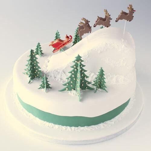Christmas Cake Decorating How To : Beautiful christmas cake! Christmas Stuff Pinterest