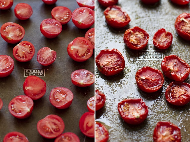 Slow Roasted Tomatoes. I am going to try this today!