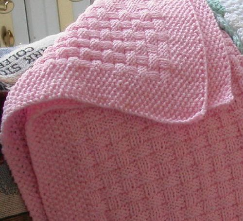 Knit And Purl Stitch Baby Blanket : Basket Weave Baby Blanket KNIT PURL KNIT Pinterest