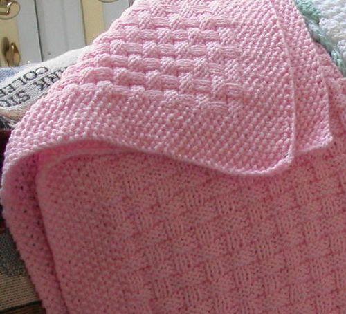 Basket Weave Baby Blanket KNIT PURL KNIT Pinterest
