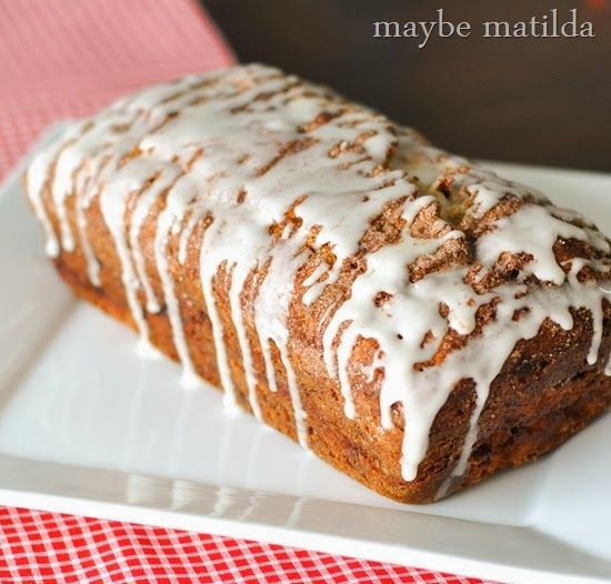 Cinnamon Swirl Banana Bread Recipe - Perfect 5 am nomz :3 I think I ...