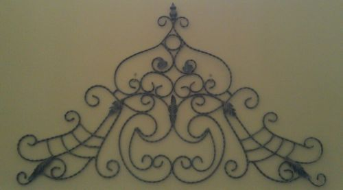 wall accents large wrought iron design piece. Black Bedroom Furniture Sets. Home Design Ideas