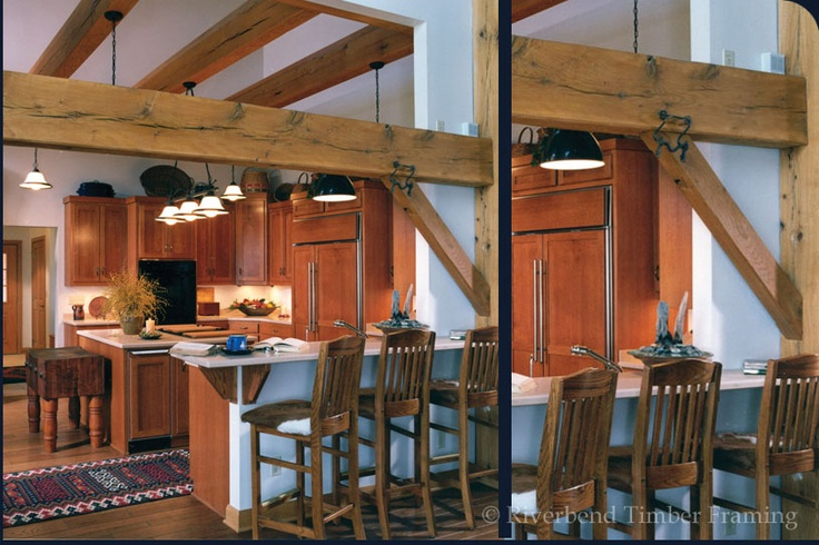 Timber Frame Kitchen Home For The Home Pinterest