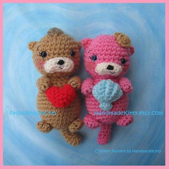 Yoda Amigurumi Pattern Free : Otter Couple Floating in Love Amigurumi PDF Crochet ...