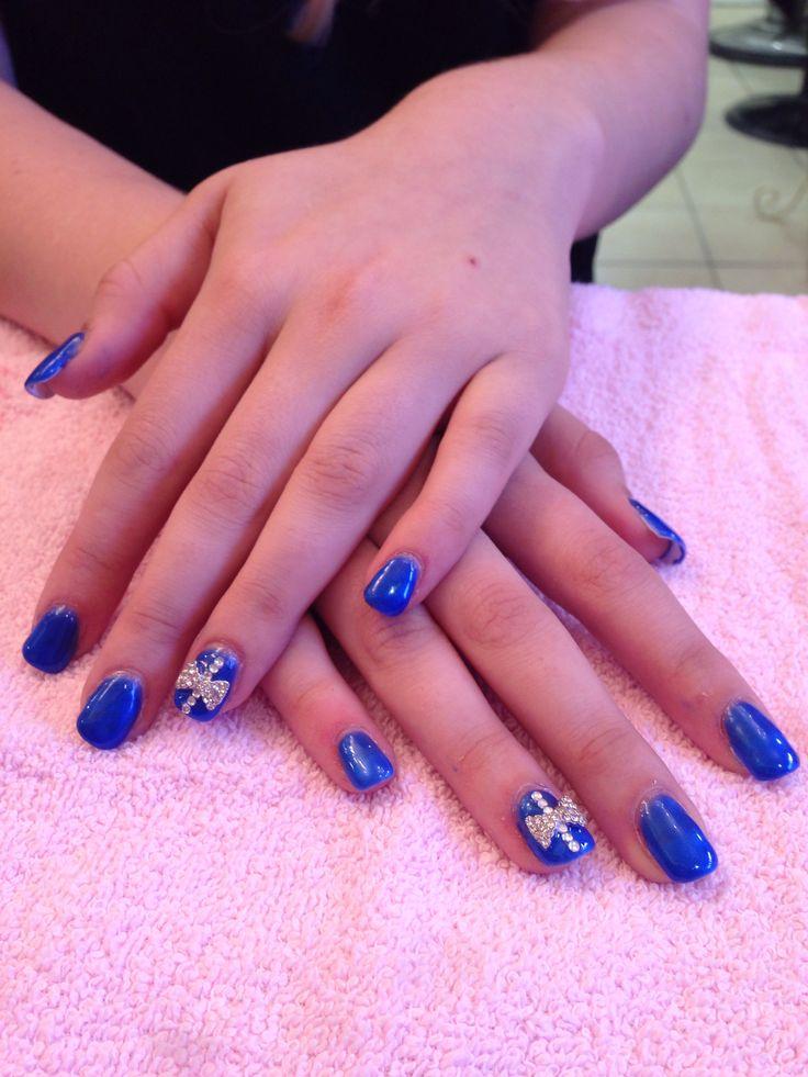 Gelish nails with art design | Gelish nails | Pinterest