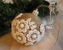 handmade christmas - Bing Images /old ornaments, twine, old doiles
