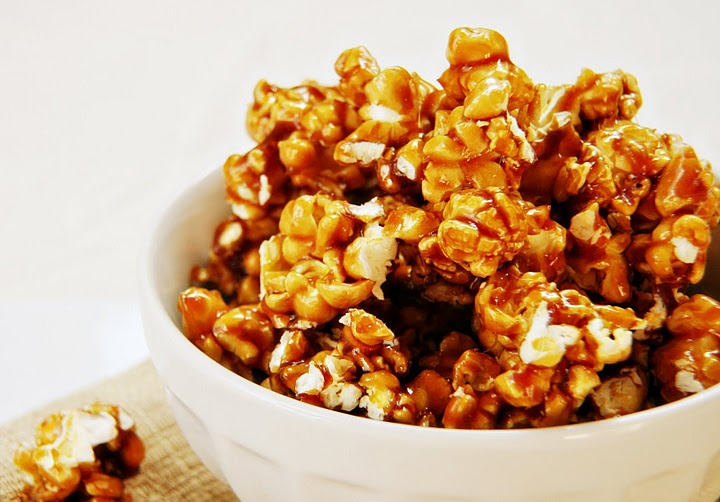 Caramel Popcorn | In-Home Movie Theater | Pinterest