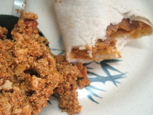 Tofu Taco/Burrito Filling. Made this tonight, but cubed the tofu ...: http://pinterest.com/pin/40039884159360766/