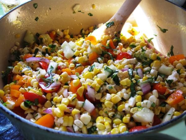sweet corn salad | Recipies | Pinterest