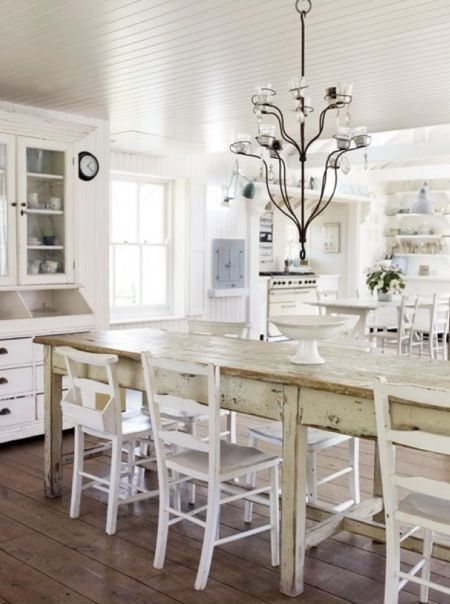 Modern Country Style Dining Table White Goodness Pinterest