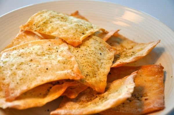 baked wonton chips | Snacks | Pinterest