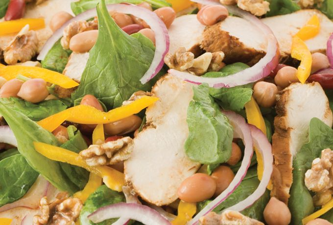 ... Spinach, Navy Bean and Grilled Chicken Salad with Balsamic Vinaigrette
