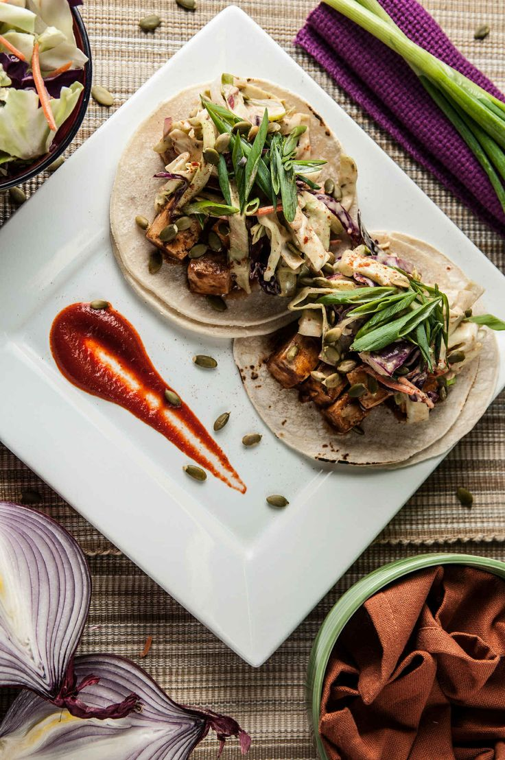 Sweet and Smoky BBQ Tofu Tacos With Soft Corn Tortillas, Mexicali Slaw ...