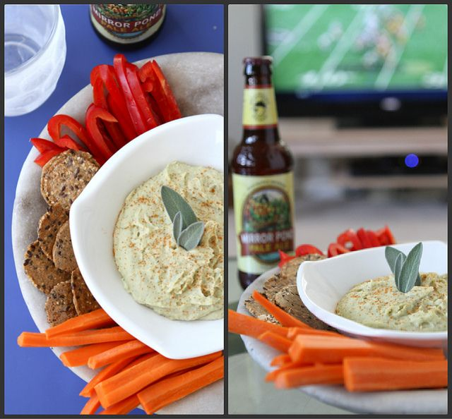 White Bean Dip Recipe with Parmesan Cheese & Sage; made 08.12.13 ...