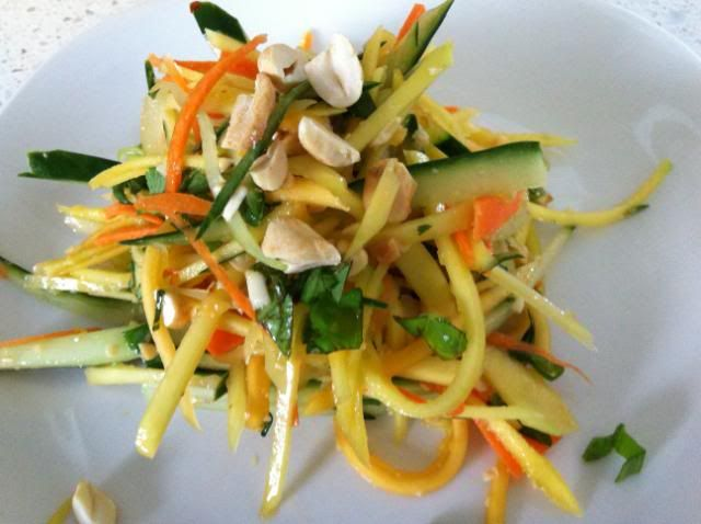 Mango and Papaya Salad   Salads   Pinterest