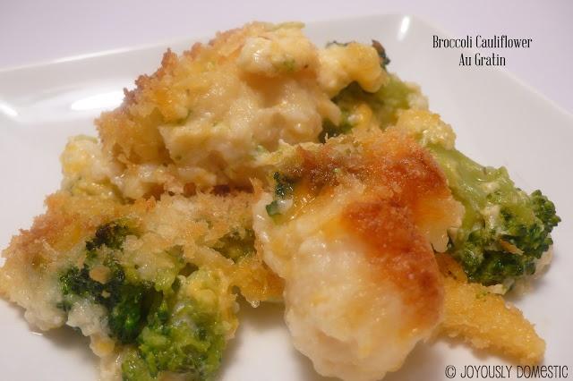 Cauliflower and broccoli au gratin   Yummo Side Dishes   Pinterest
