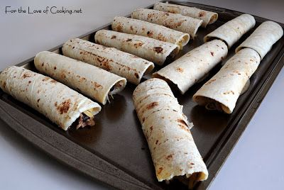 ... of Cooking » Ground Beef, Black Bean, and Cheddar Cheese Taquitos