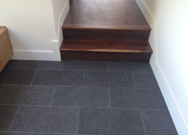 wood-tile transition  Living spaces  Pinterest