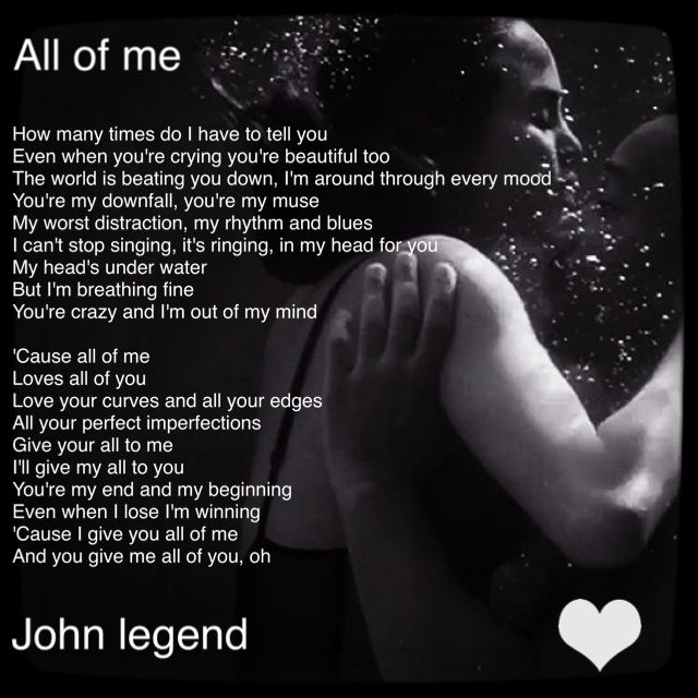 gallery for all of me john legend quotes