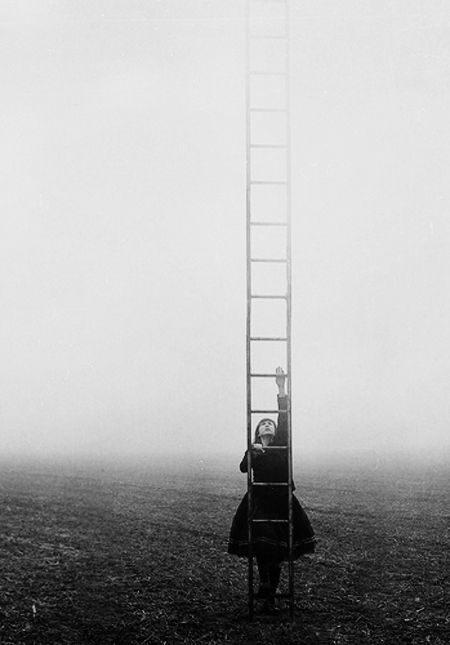 Build a ladder to the sky..........and climb on every rung.