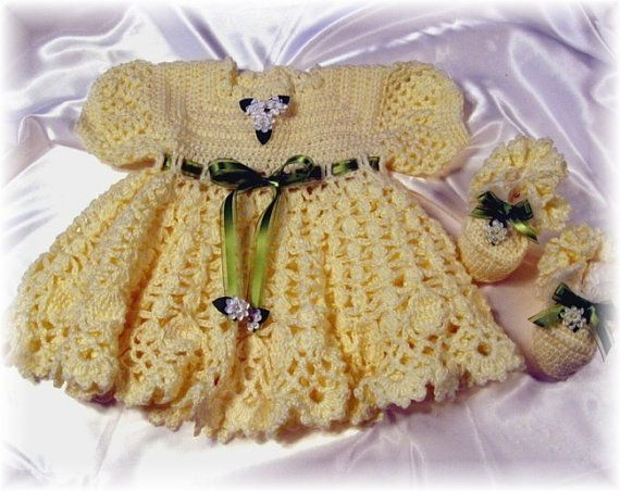 Crochet Pattern for Yellow Rose Baby Dress ? by littlebuddydolls, $4 ...
