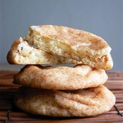 Snickerdoodles  ½ C butter, softened  ½ C shortening  1½ C sugar  2 eggs  2 tsp vanilla  2 3/4 cups all-purpose flour  2 tsp cream of tartar  1 tsp baking soda  ¼ tsp salt    2 Tbs sugar    2 tsp cinnamon Crispy edges, and chewy centers; these cookies are a crowd pleaser for sure!