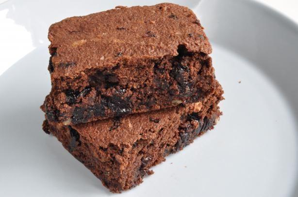 Okara Dark Chocolate Cherry Brownies Recipe - Food.com - 298195