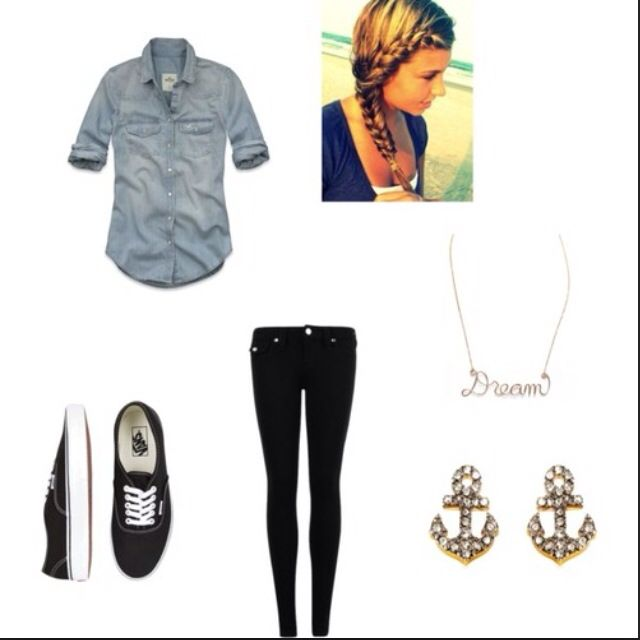 Cute Outfit With Black Vans | Outfits | Pinterest