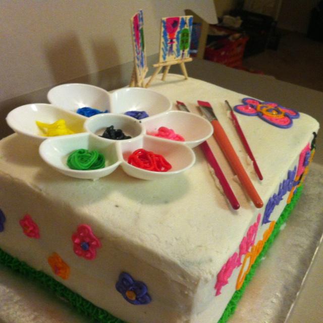 Art Themed Cake : Art themed cake-KLG party ideas Pinterest