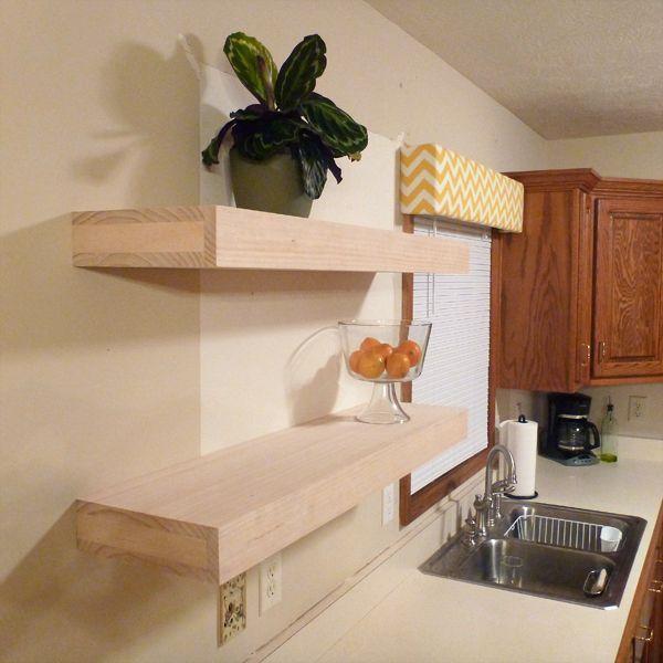 Diy floating shelves craft ideas pinterest for Diy shelves pinterest