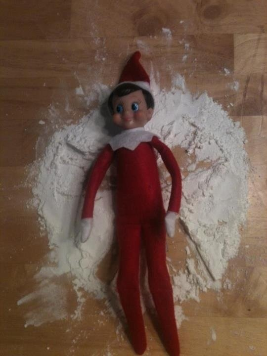 Snow angels first, cookies next. | Elf on the Shelf | Pinterest