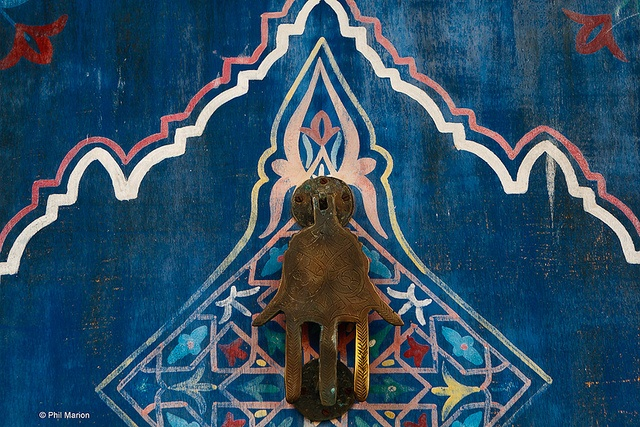 Hand of Fatima door knocker - Rabat, Morocco by Phil Marion, via Flickr