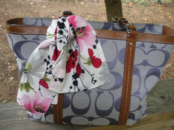 Floral purse scarf