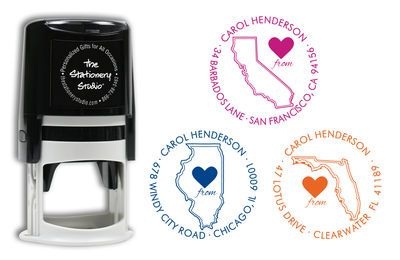 Love from My State Self Inking Stamper