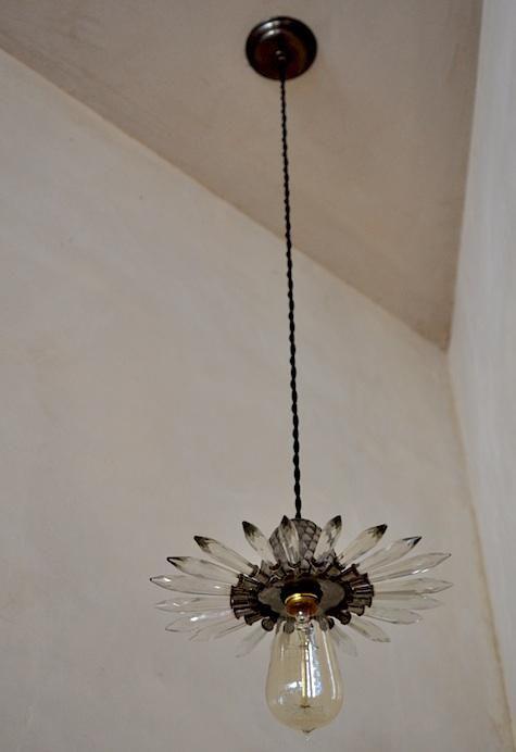 vintage light from the interior of designer Erica Tanovs shop