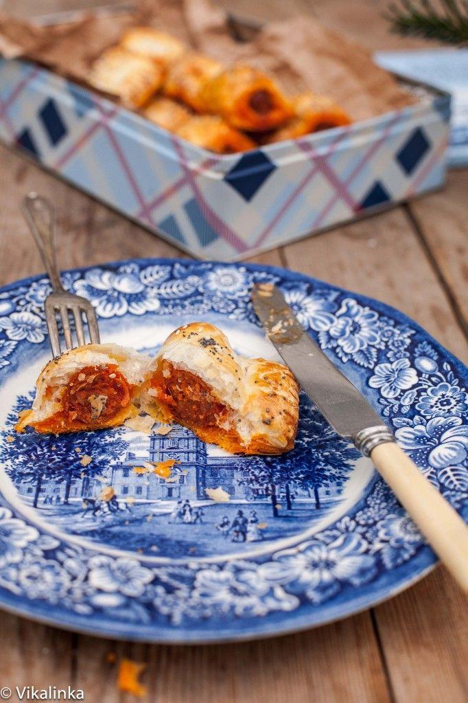 Chorizo Sausage Rolls #puffpastry #chorizo