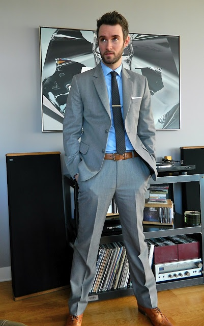 grey suit brown shoes style pinterest
