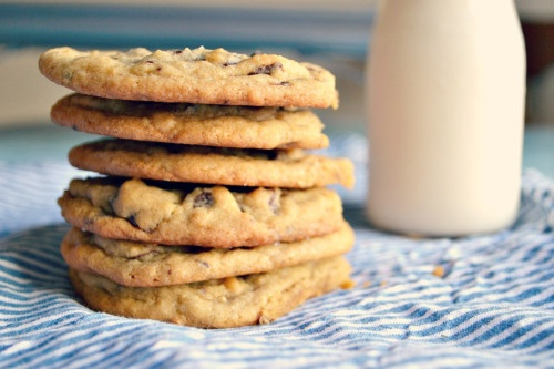 Salted Dark Chocolate Chunk Cookies | Cookie recipes | Pinterest