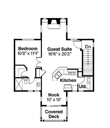 Garage With Guest Suite Small Home Floor Plans Pinterest