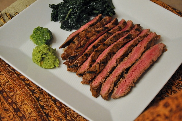 Beer-Marinated Flank Steak with Aji and Guacamole by Turntable Kitchen ...