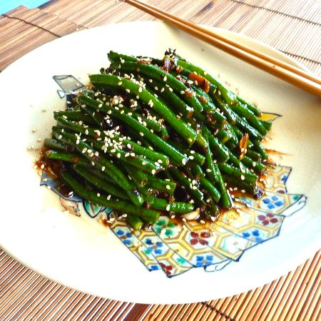 Asian green beans! My favorite...and my husband will eat them too ...