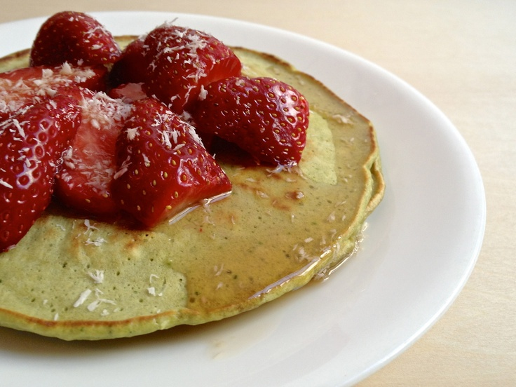 Matcha Green Tea Coconut Pancakes Recipes — Dishmaps