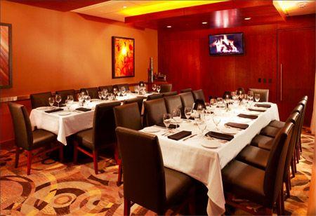 Ocean Prime Atlanta Private Dining Prime Room 3 Two Long Tables